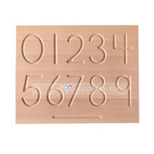 Montessori Educational Wooden Toy Gift Teaching Material Montessori Mathematics Double Sided Number Shapes Wooden Tracing Board
