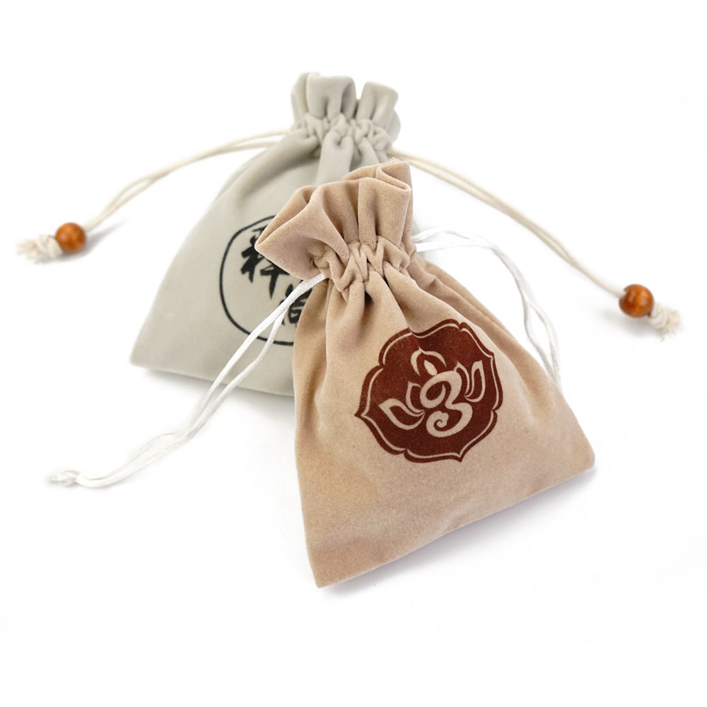 Custom logo printed microfiber mini colored soft faux suede velvet drawstring bowknot jewelry bag pouches