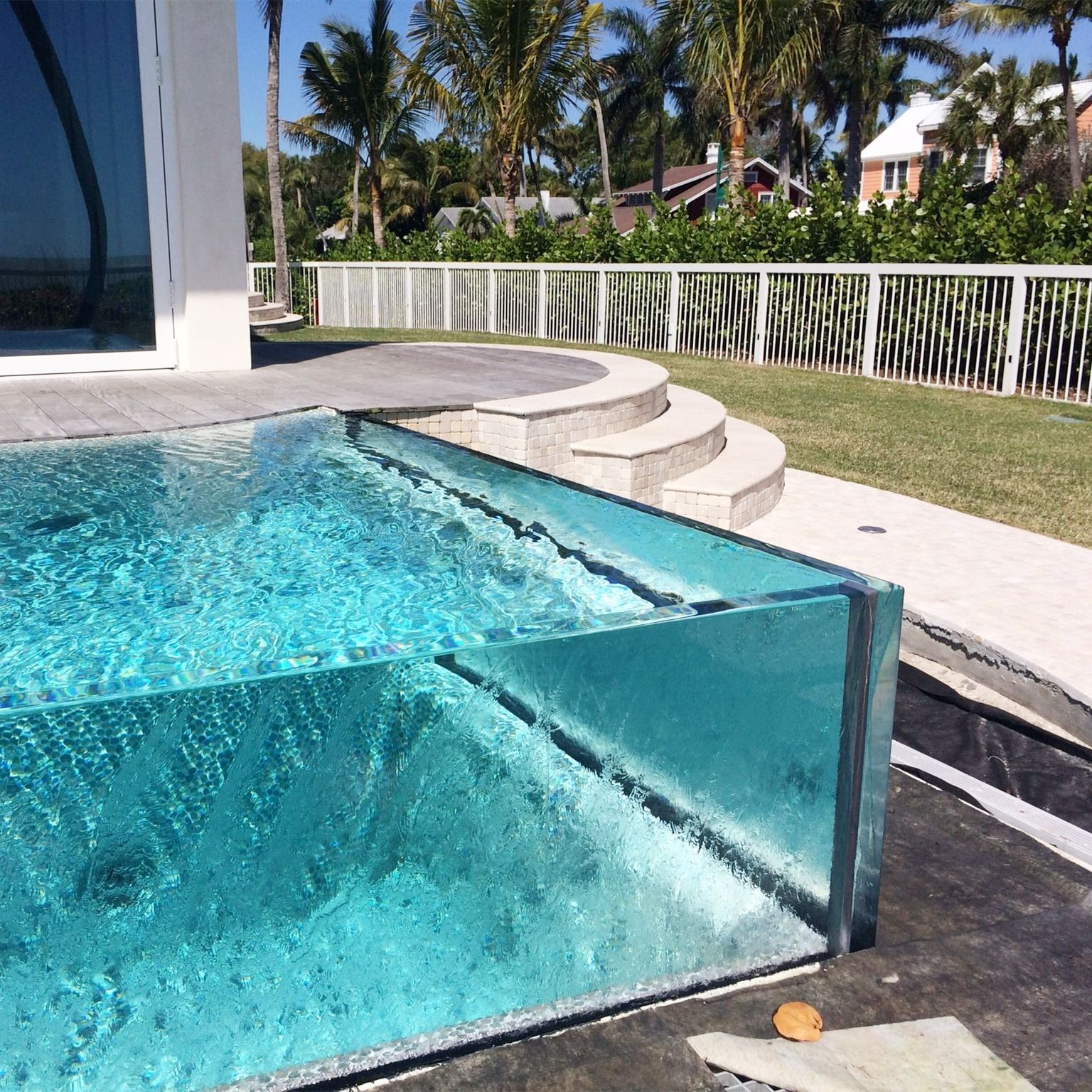 Factory price safety Clear float glass Modern Design Outdoor Acrylic Glass For Swimming Pools