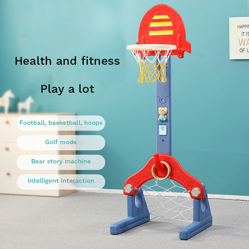 Kindergarten plastic portable children's basketball stand removable adjustable kids basketball stand