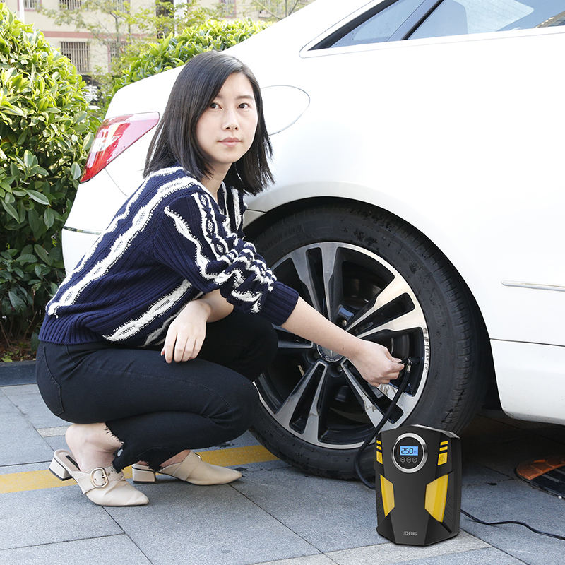 car air compressor inflatable 12 V tire inflator pump
