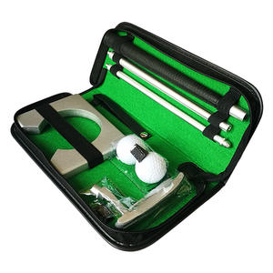 Pu kasus pelatihan set Golf Putter golf putter set, hadiah Golf set, Mini golf putter set