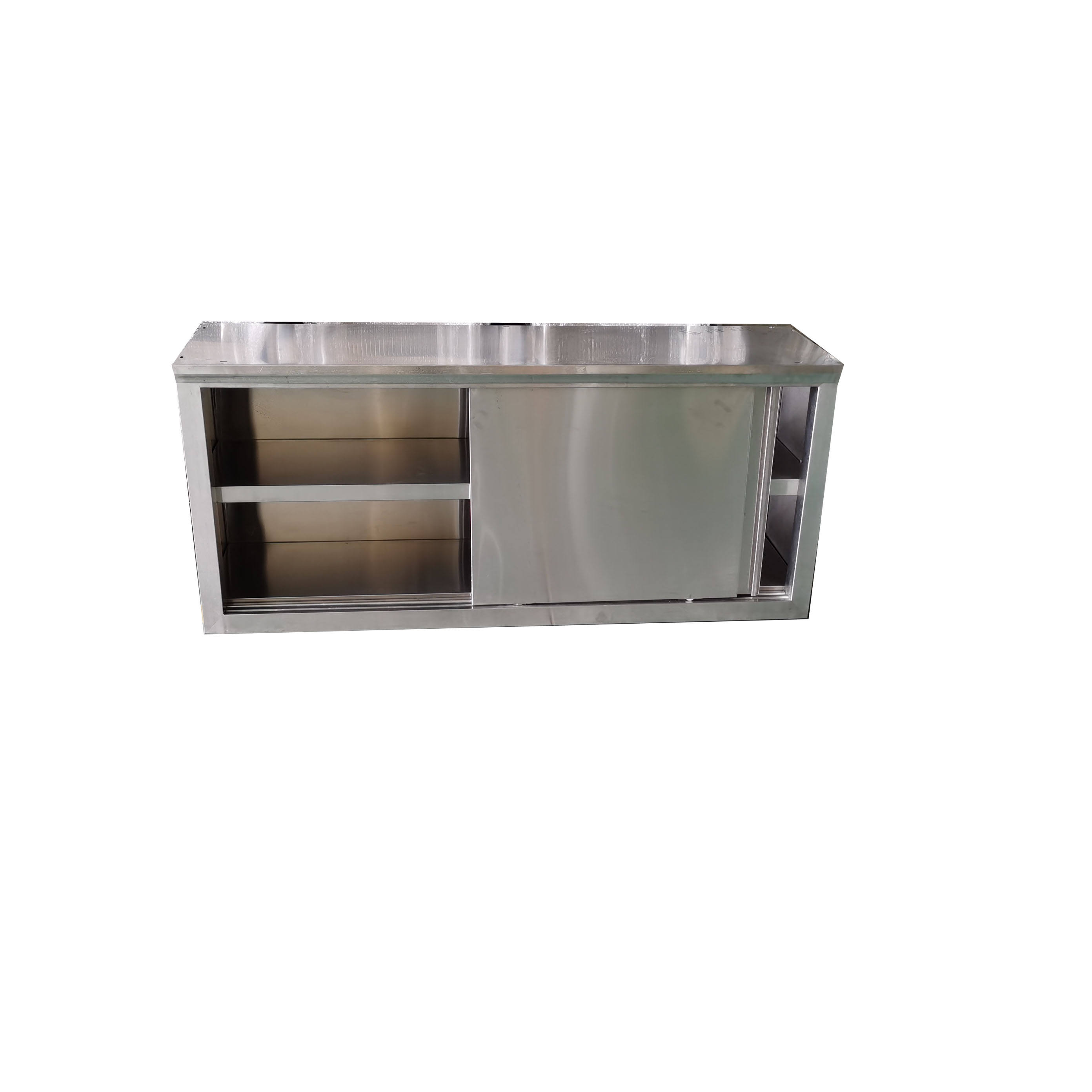 Shandong Product commercial stainless steel wall hanging storage kitchen cabinet