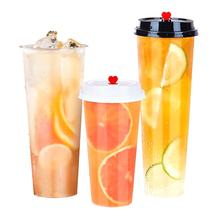 2020 fashion 360ml ,500ml. 520ml, transparent disposable plastic  pp tea coffee cup