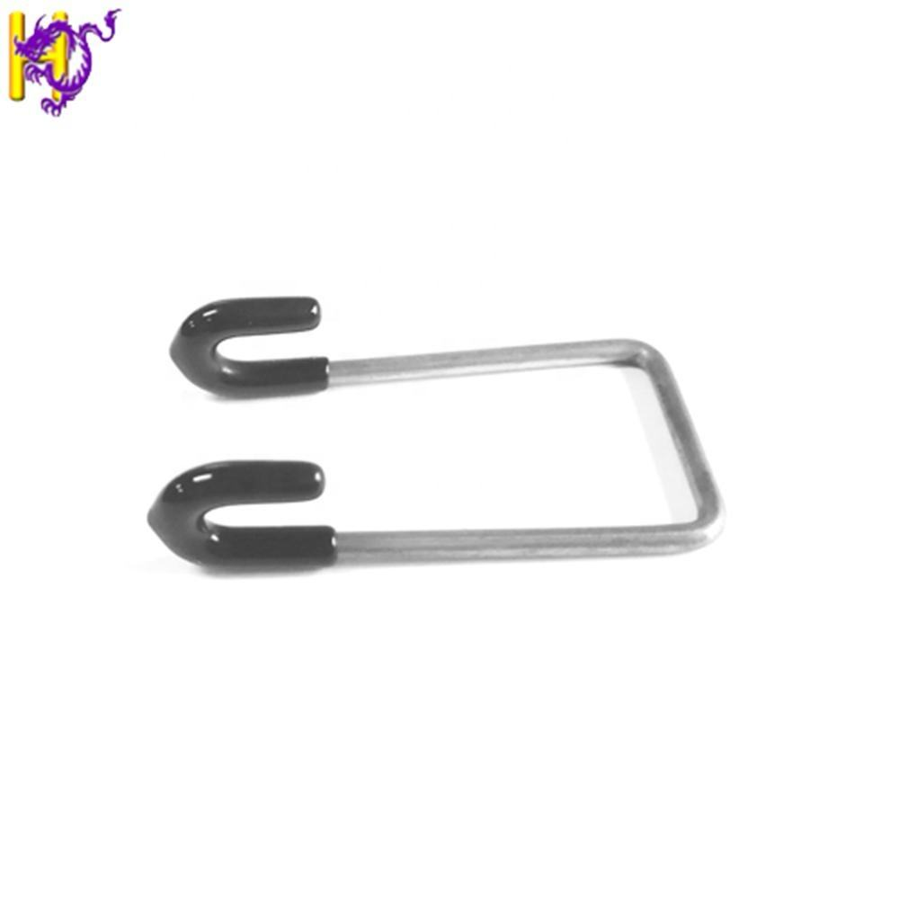 Stainless steel Hanging hook bent wire forming spring with rubber sleeve for LED light