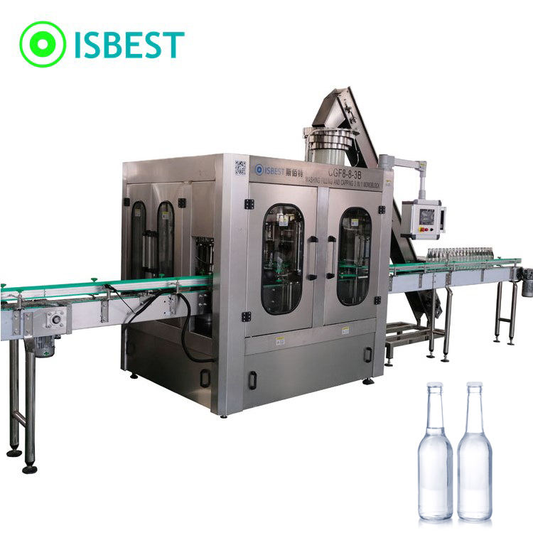 Zhangjiagang Glass Bottle Cleaning and Filling Machine/Drinking Water Factory