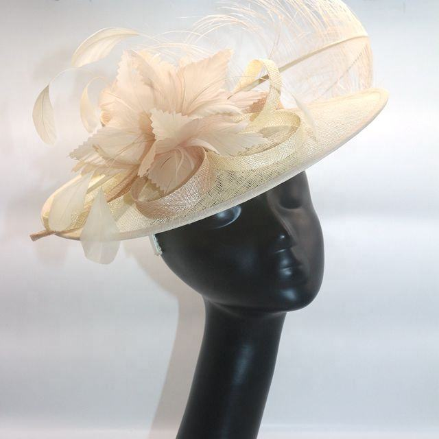 church party decoration sinamay feather fascinator hat