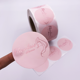 Custom Round Logo Sticker Printed Design Rose Gold Foil Hot Stamping Roll Packaging Labels