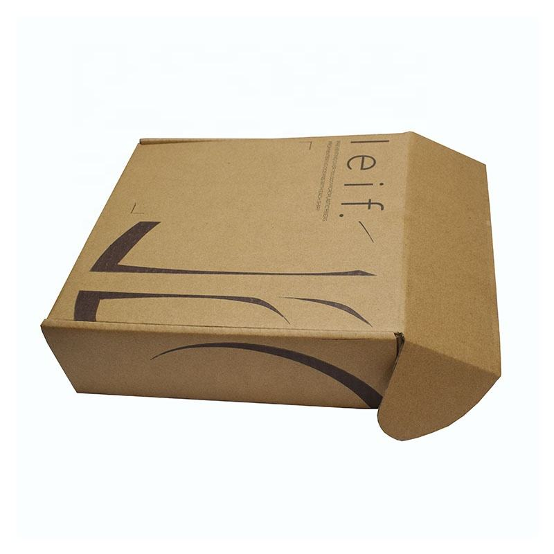 Custom logo Cardboard Packing Mailing Corrugated Apparel Packaging Box