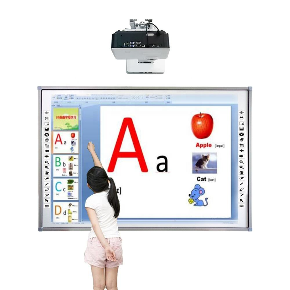China interactive whiteboard,infrared Multi finger touch ultra slim aluminum frame trace smart boards for school/office