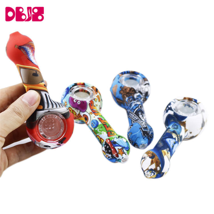 Wholesale Weed Silicone Smoking Pipes Tobacco Water Smoking Pipes