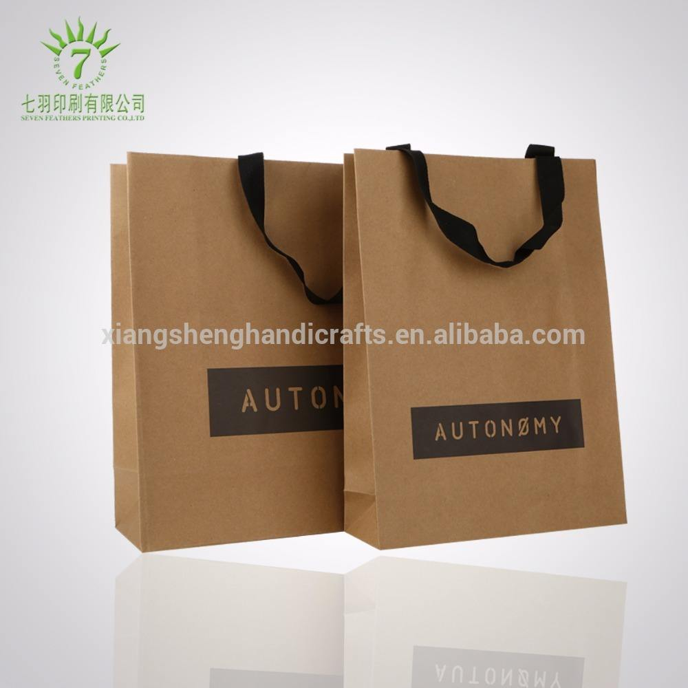 Bespoke printed carrier craft brown paper bags