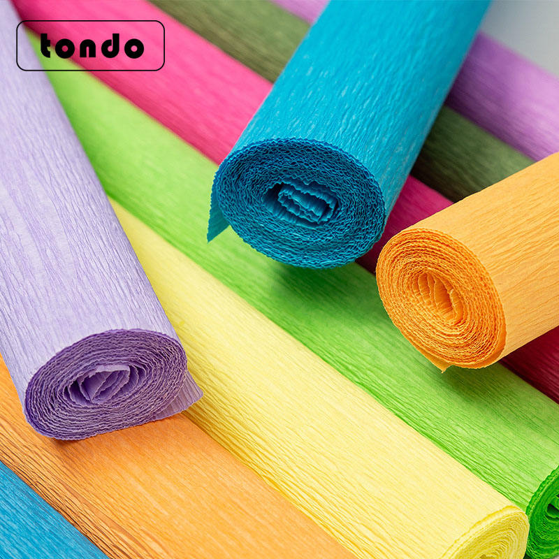 Tondo Wholesale 50cm 2.5meters Crepe Paper Roll For Decoration Flower