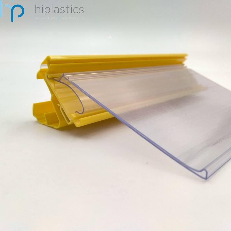 Hiplastics PVC steelcase ticket rail shelf talkers retail displays Can be used in different plastic label holder for australia