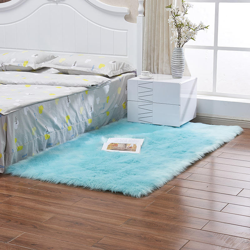 Softlife Faux Fur Sheepskin Area Rug, Shaggy Wool Carpet for Bedroom Living Room Home Decor#