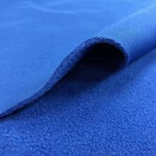 new product hot sales 100% polyester 4 way stretched bonded soft shell polar fleece fabric for jacket