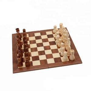 printing mini wooden chess staunton board travel game set