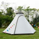 3-4 person camping tipi tent double layer outdoor Indian teepee bell tent