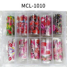 10 rolls/set Romantic Valentine's Day Nail Foil