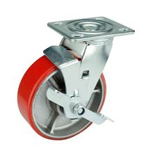 Wholesale manufacturer trolley wheels removable swivel industrial PU heavy duty caster wheel