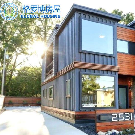 China cheap prefabricated 4 bedroom container house portable prefab beach house