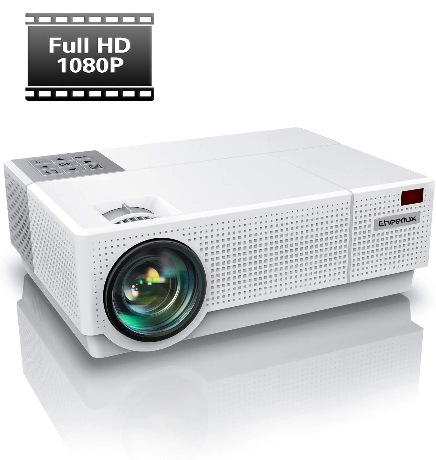 2020 New Upgrade Native 1920x1080p Led 3D multimedia Projector Beamer Full HD Portable Cinema Office Educate Proyector