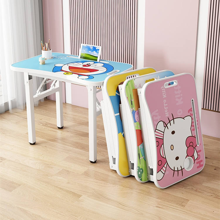 Kids cartoon Furniture Set Babies and Kids Apartment study table and chair
