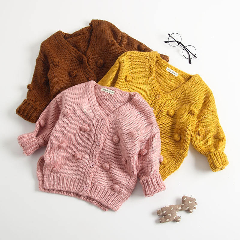 toddler girls cotton sweater solid baby cardigan yellow fall kids clothes wholesale children's clothing boutiques 546
