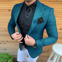 Groomsmen 3 Pieces Groom Tuxedos Blue Stripe Men Suits Wedding Best Man Blazer 2020