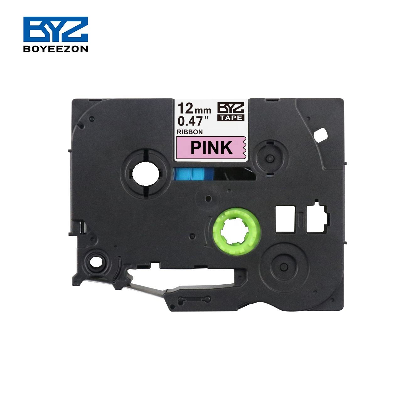 Black on Pink tzeRE31 Compatible for Brother Satin Ribbon Label Tape 12mm Tze -RE31 tz RE31