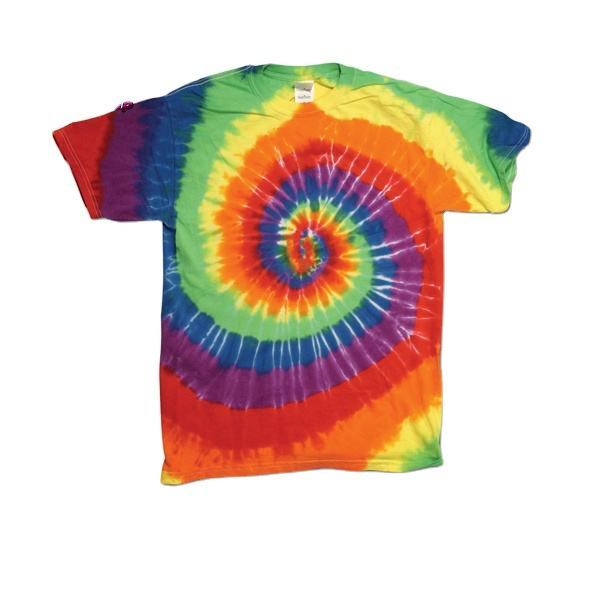 Custom 100% Cotton tie Dye T-shirt and Baseball Cap Factory short sleeves top tee