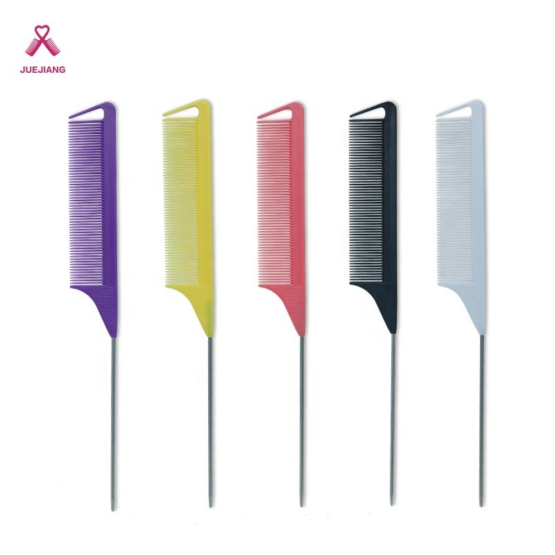 2020 Wholesale Plastic Hair Cutting Comb Custom Logo Salon Professional Hair Cutting Durable Carbon Fiber Comb