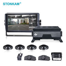 1080P full hd Waterproof 8 channel mobile car dvr recorder support touch-screen and infrared remote control