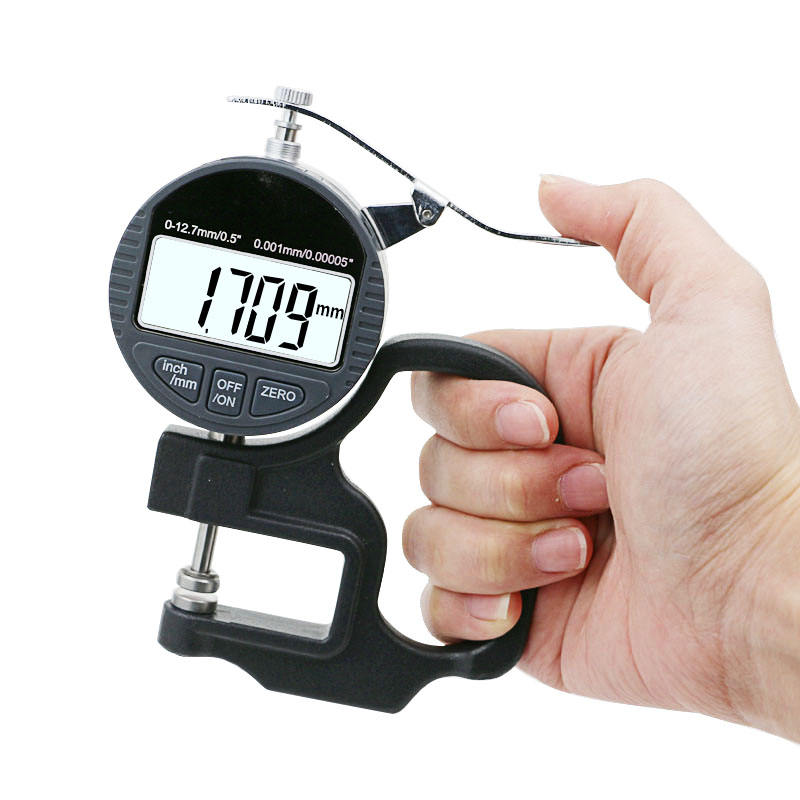 "Digital Thickness Gauge 0.5 zoll/12.7mm, 0.00005 ""/ 0.001mm, Thickness Meter Precise Electronic Micrometer mit LCD Display"