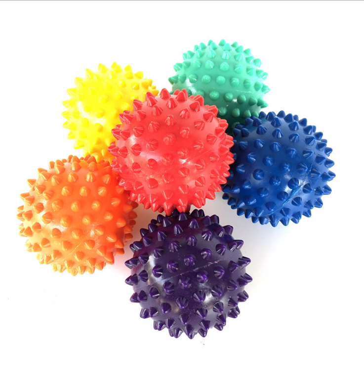 Anti-stress Farbe Fitness PVC Hand Sohlen Hedgehog Sensorische Ausbildung Grip Tragbare Physiotherapie Yoga Massage Ball
