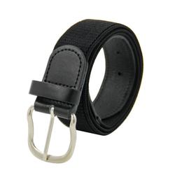 Fashion 3.3CM Elastic PU Mens Belts Stretch Belts