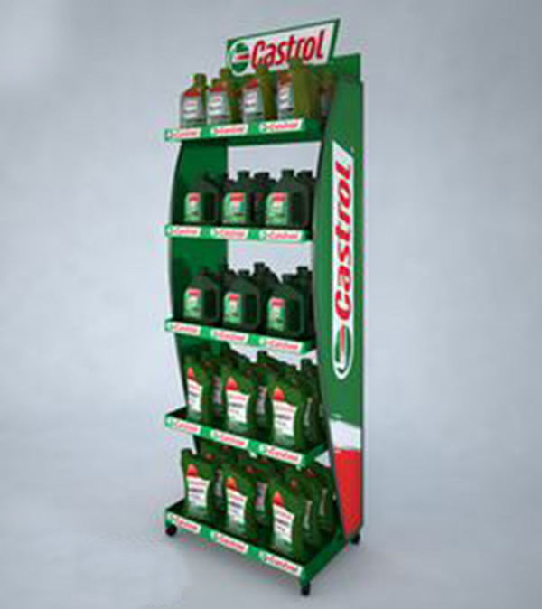 Custom castrol motor oil rack display, Mobil one engine oil display rack storage stand rack for auto car shop