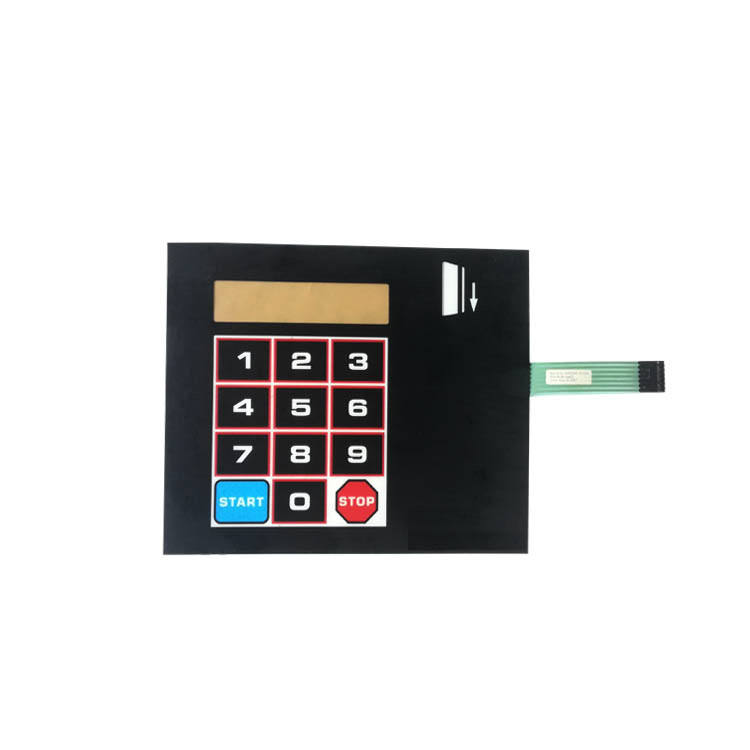 hot sale customized membrane switch keypad for industry equipmetns