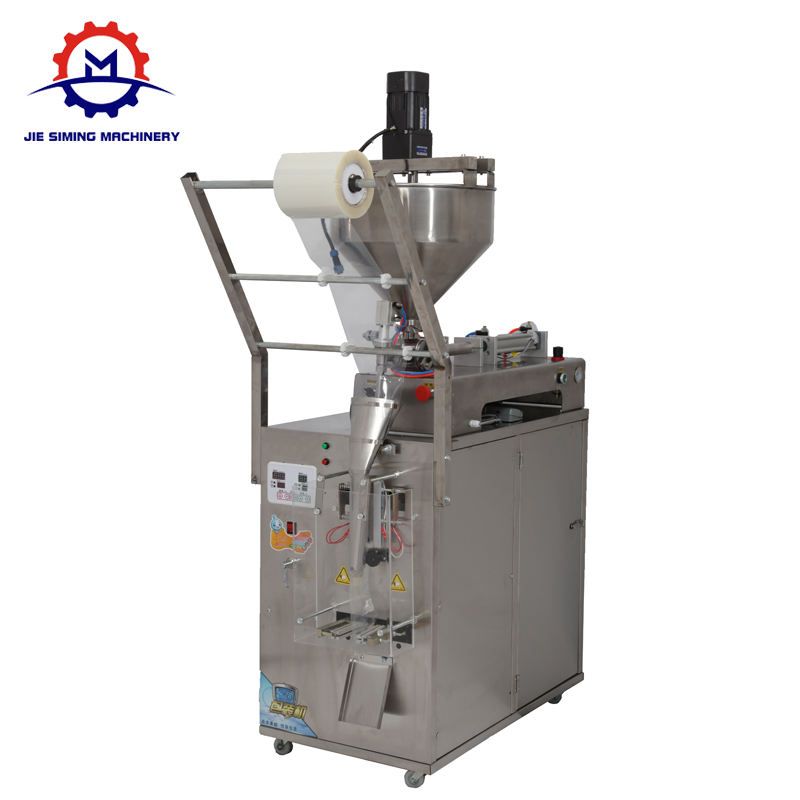 Automatic chili sauce tomato paste packing machine small pouch honey packing machine with stirring function