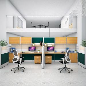 Malaysia Customize Modular Office Furniture Partition E System Administrative Desk Office Workstation Cubicle for 4 Person