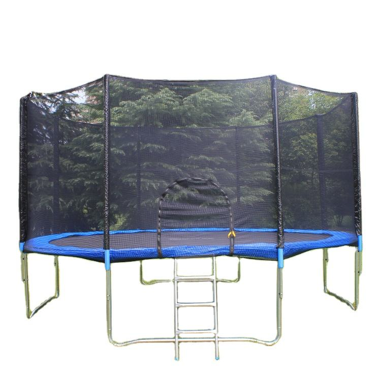 Professional Customized Logo Print Large Round 12FT Kids Adults Exercise Jumping Fitness Trampolines for Indoor and Outdoor