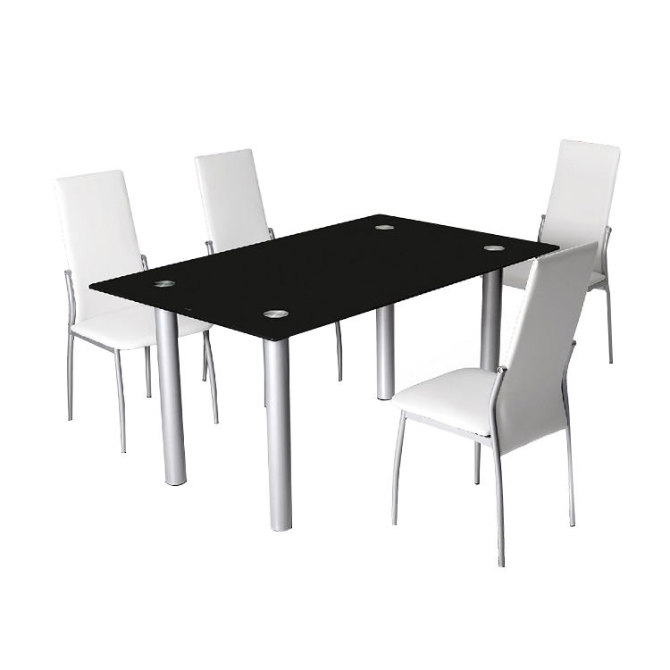 Free Sample Modern Glass Round Kitchen Table Set