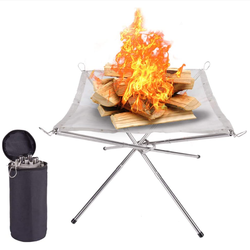 Portable Fire Pit Outdoor Fireplace Camping Fire Pit Foldable