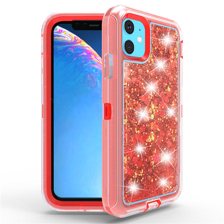 Transparent Glitter Quicksand Mobile Phone Accessories Smart Cover Case For Iphone 11 Pro