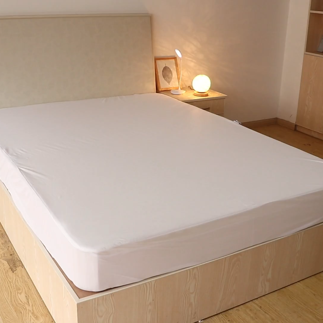 Manufacturing price 70%Bamboo and 30%Cotton Waterproof bamboo mattress protector from vietnam suppliers