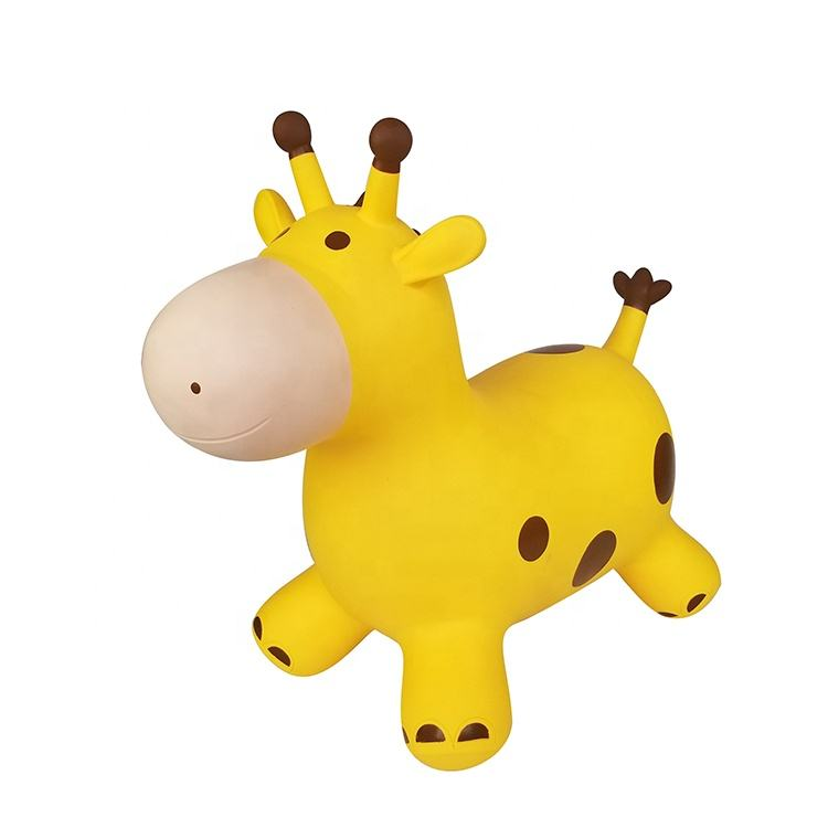 Eco-friendly pvc plastic inflatable bouncy animal toy giraffe