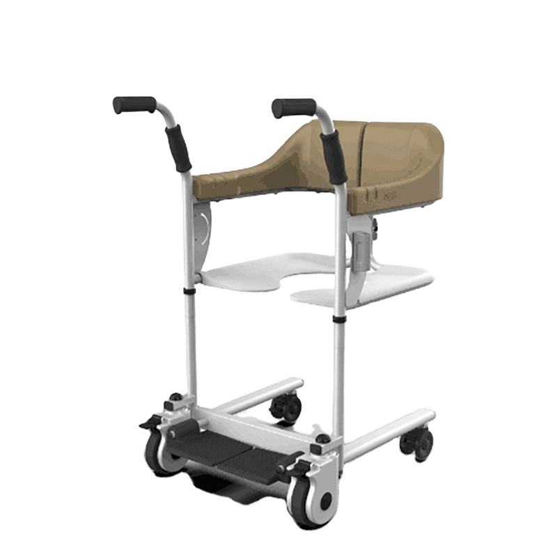 Waterproof Patient Transfer Commode Toilet Bath Wheel Chair for Handicapped and Paralyzed