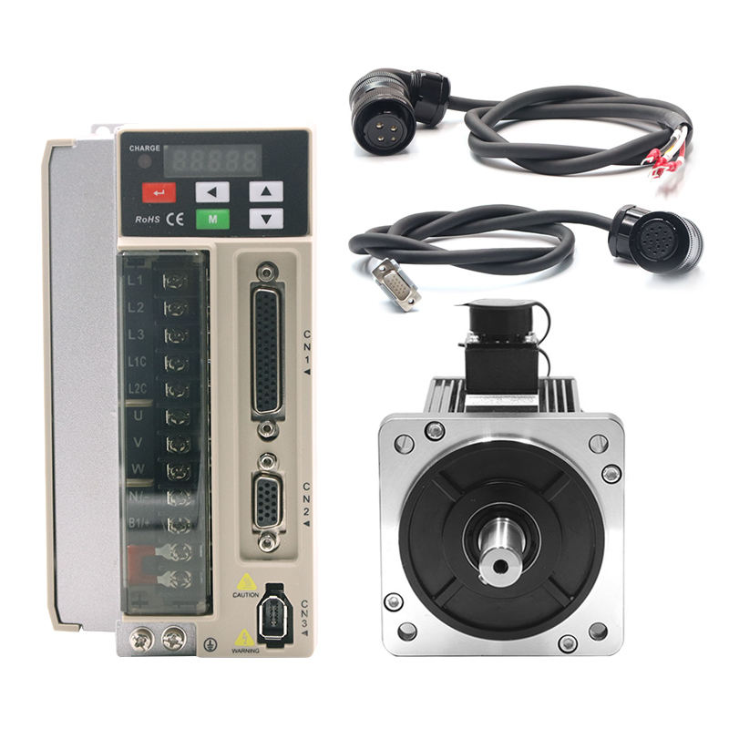 Siheng 130mm 220V 2KW 2500R 7.7N Low Price CNC AC Servo Motor and Servo Driver for packing machine