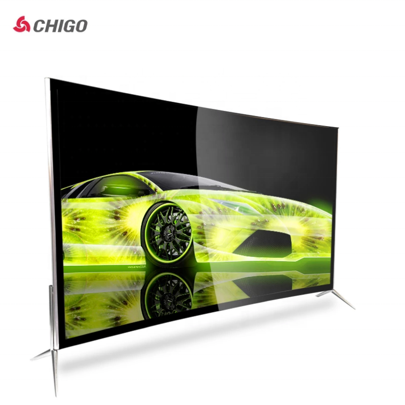 dvb-t2 curve tv 50 55 65 inch 4k smart bluetooth-compatible tv