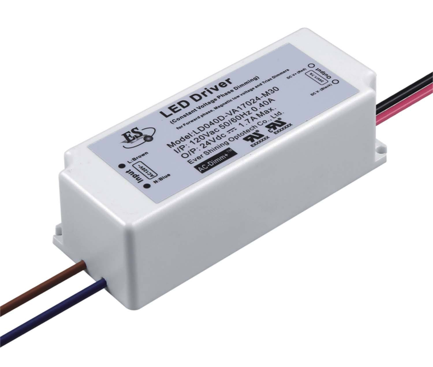 Es 230vac Dc 83% Rendement Waterdichte Ip65 Constante Spanning Triac <span class=keywords><strong>Dimbare</strong></span> 24V 40W Led Driver